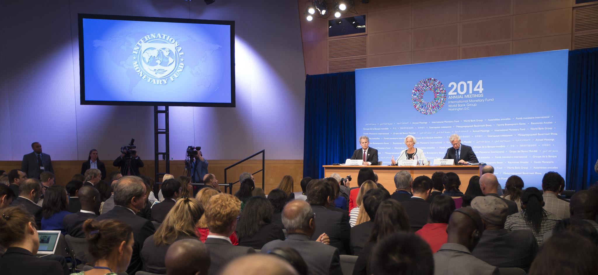 Conférence de presse de la directrice générale du FMI